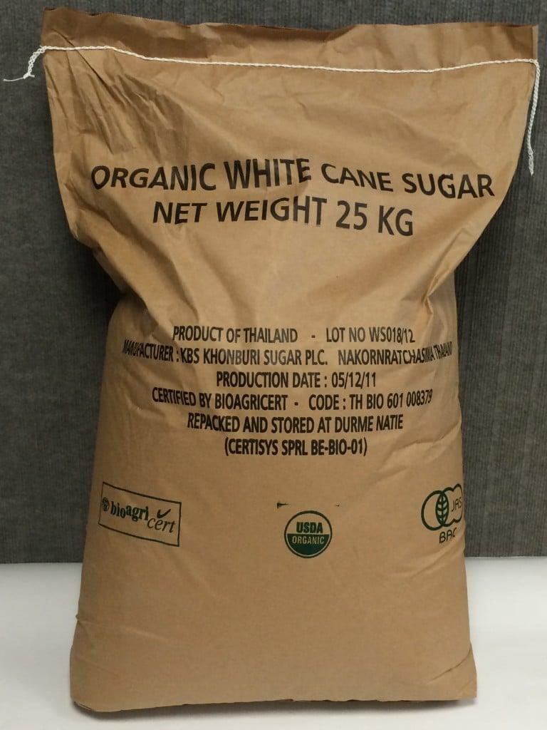 sucre biologique bio blanc