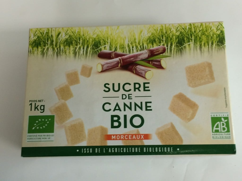 sucre biologique bio morceaux